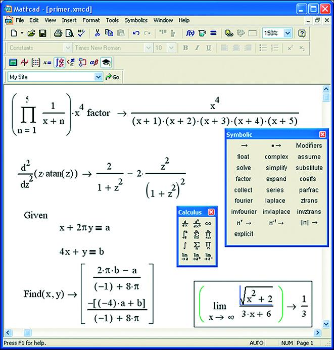 скачать обучение mathsoft mathcad 13: